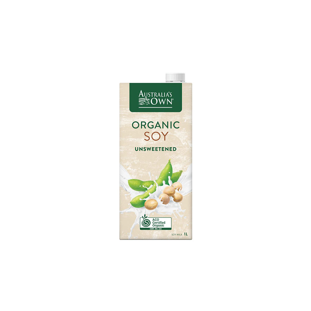 Aust Own Unsweetened Soy Organic Drink 1lt